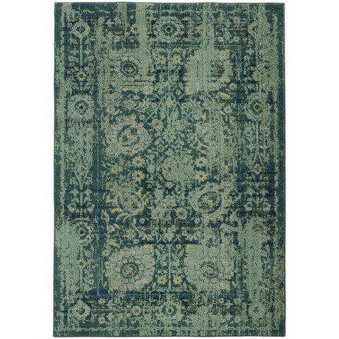 Expressions Blue Green Oriental Rug