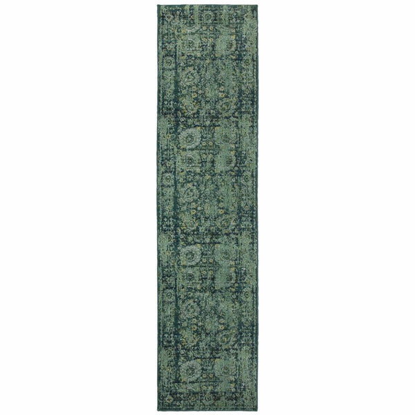 Area Rugs - Expressions Blue Green Oriental Rug