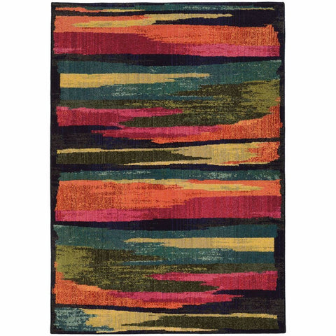 Expressions Multi Blue Abstract Rug