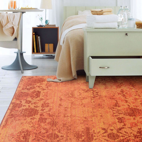 Area Rugs - Expressions Orange Pink Oriental Rug