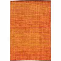 Expressions Orange Yellow Abstract Rug - Free Shipping