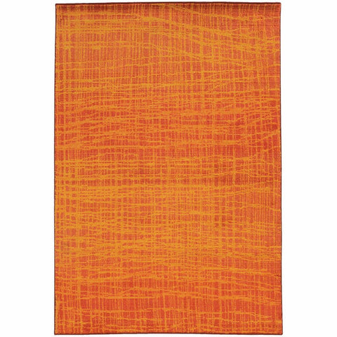 Expressions Orange Yellow Abstract Rug