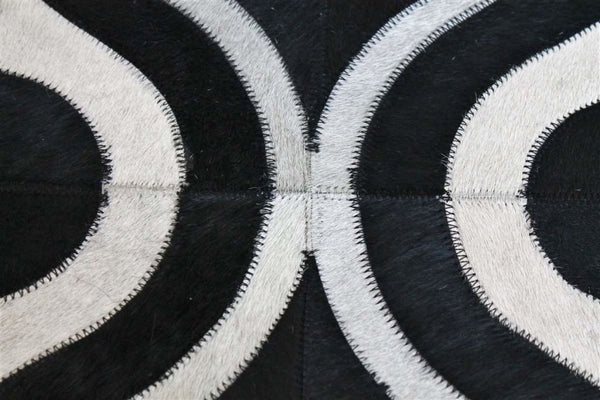 Popular Modern Cowhide Black And White Rug