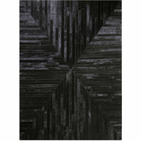 Area Rugs - Madisons Black Patchwork Cowhide Rug