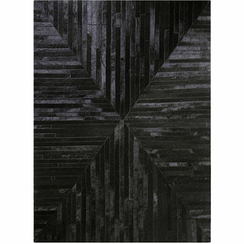 Madisons Black Patchwork Cowhide Rug