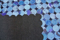Area Rugs - Madisons Blue Cowhide Patchwork Rug Circle Pattern