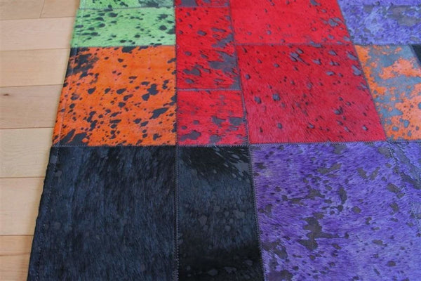 Area Rugs - Madisons Colorful Patchwork Cowhide Area Rug