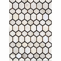 Madisons Contemporary Brown and White Patchwork Cowhide Rug - Free Shipping