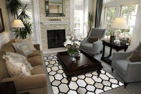 Area Rugs - Madisons Contemporary Brown And White Patchwork Cowhide Rug