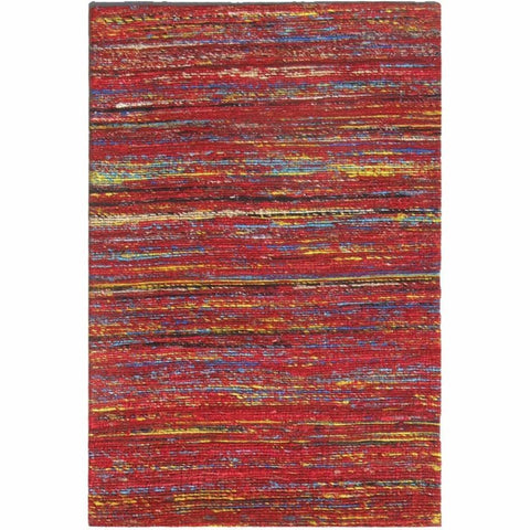 Madisons Red Sari Silk Area Rug