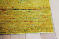 Area Rugs - Madisons Yellow Sari Silk Area Rug