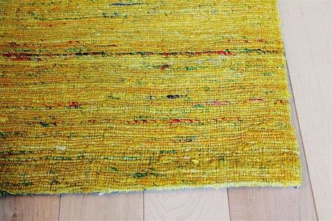 Madisons Yellow Sari Silk Area Rug