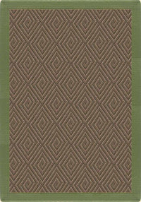 Area Rugs - Malta Orris Patterned Outdoor Area Rug With Olive Green Extra Wide Canvas Border