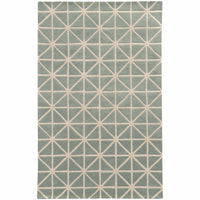 Optic Grey Ivory Geometric Rug - Free Shipping