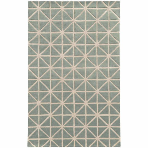 Optic Grey Ivory Geometric Rug