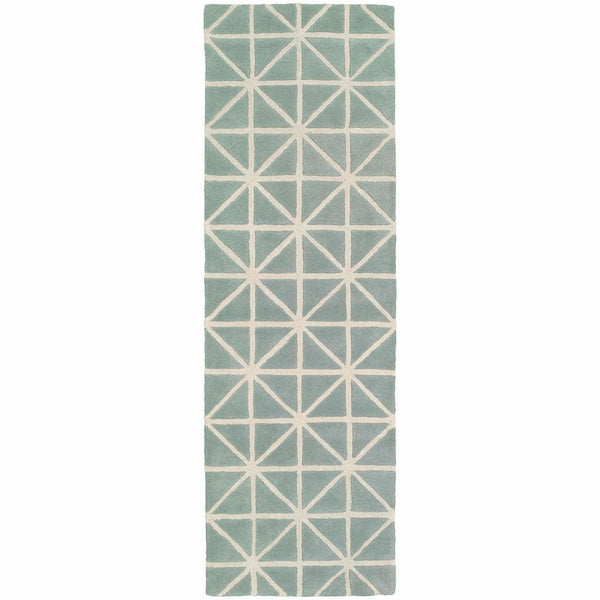 Area Rugs - Optic Grey Ivory Geometric Rug