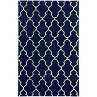 Optic Navy Ivory Geometric Rug - Free Shipping
