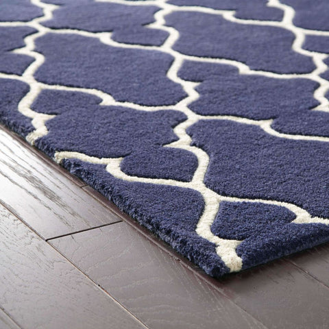 Oriental Weavers Optic Navy Ivory Geometric Rug