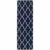 Area Rugs - Optic Navy Ivory Geometric Rug
