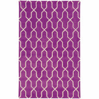 Optic Purple Ivory Geometric Rug - Free Shipping