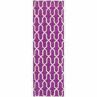 Area Rugs - Optic Purple Ivory Geometric Rug