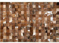 Area Rugs - Poshrug Brown Squared Patchwork Rug