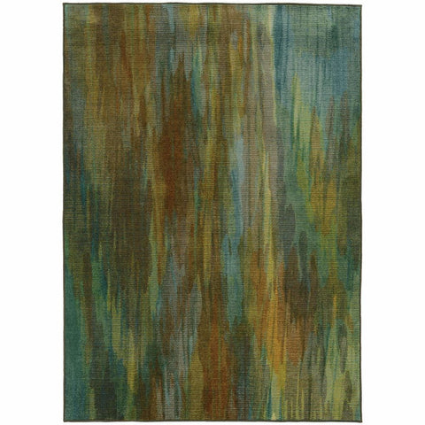 Oriental Weavers Prismatic Green Blue Abstract Rug