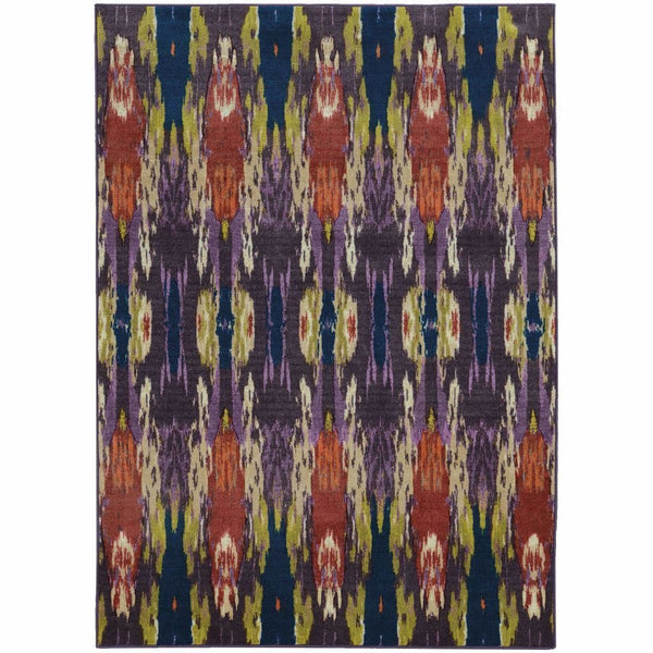 Prismatic Purple Blue Abstract Rug - Free Shipping