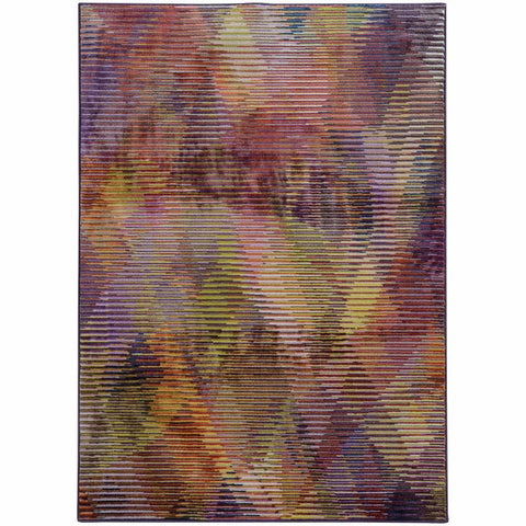 Prismatic Purple Lavender Abstract Rug
