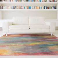 Area Rugs - Prismatic Red Orange Abstract Rug