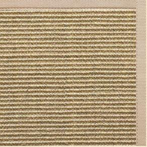 Bone Sisal Rug with Alabastor Cotton Border