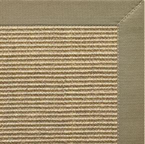 Bone Sisal Rug with Basil Green Cotton Border - Free Shipping