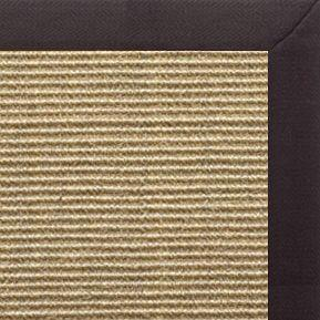 Bone Sisal Rug with Black Linen Border