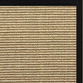 Bone Sisal Rug with Black Onyx Cotton Border
