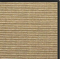 Bone Sisal Rug with Black Serged Border - Free Shipping