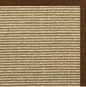 Bone Sisal Rug with Bronze Cotton Border - Free Shipping