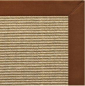 Bone Sisal Rug with Burnt Sienna Cotton Border - Free Shipping