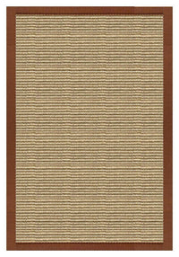 Area Rugs - Sustainable Lifestyles Bone Sisal Rug With Burnt Sienna Cotton Border