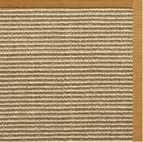 Bone Sisal Rug with Butter Rum Cotton Border - Free Shipping