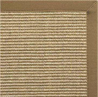 Bone Sisal Rug with Canvas Adobe Border - Free Shipping