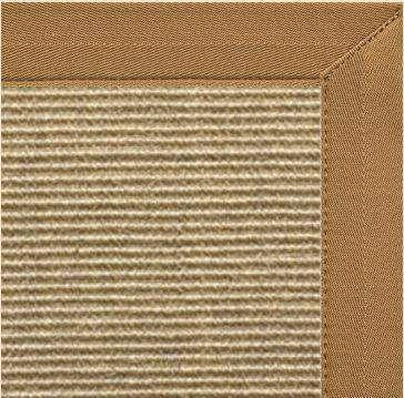 Bone Sisal Rug with Canvas Adobe Border