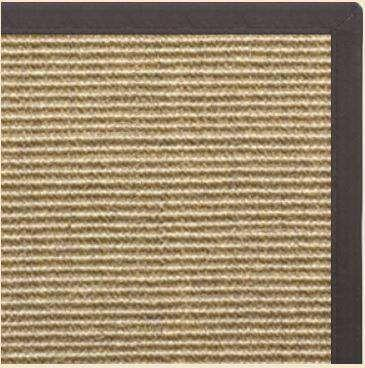 Bone Sisal Rug with Canvas Black Border