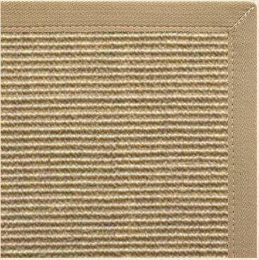 Bone Sisal Rug with Canvas Khaki Border - Free Shipping
