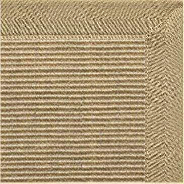 Bone Sisal Rug with Canvas Khaki Border
