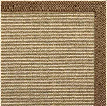 Bone Sisal Rug with Canvas Mocha Border