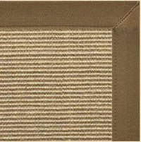 Bone Sisal Rug with Canvas Mocha Border - Free Shipping