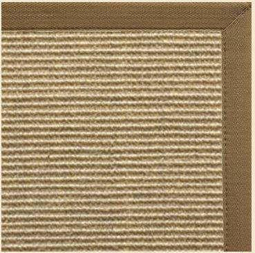 Bone Sisal Rug with Canvas Pecan Border