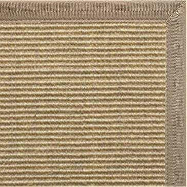 Bone Sisal Rug with Canvas Putty Border