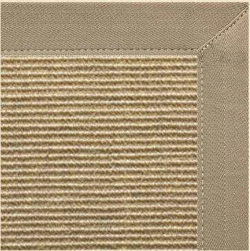 Bone Sisal Rug with Canvas Putty Border - Free Shipping