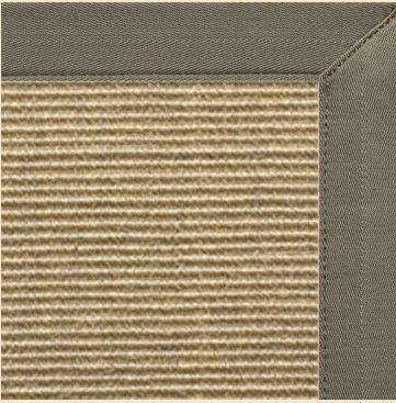 Bone Sisal Rug with Canvas Quarry Border
